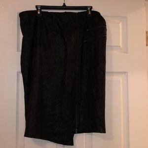 Stretchy asymmetrical pencil skirt